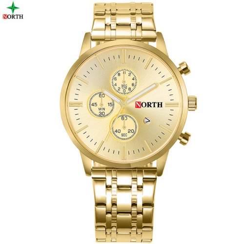 Relógio De Luxo North Nightlight Dourado 2017 Novo
