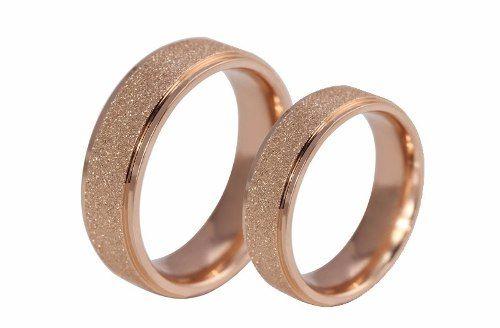 Par Alianças 6mm Banhada Ouro Rose + 2 Anéis Solitário