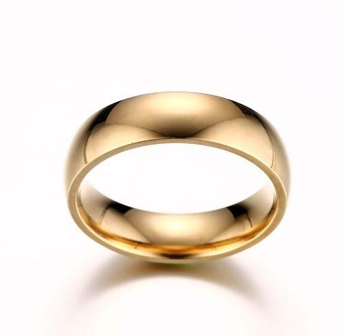 Par Alianças Com Brilhante E Filete 6mm Folheadas Ouro