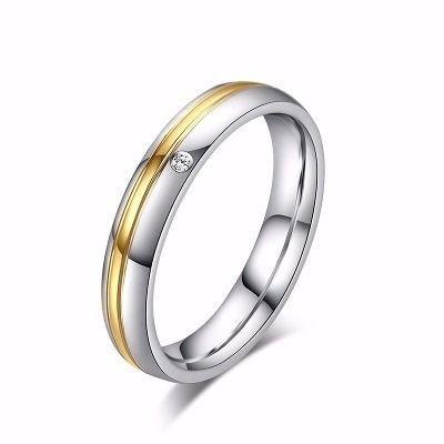 Par Aliança Compromisso Noivado Casamento 6mm Banho Ouro 18k