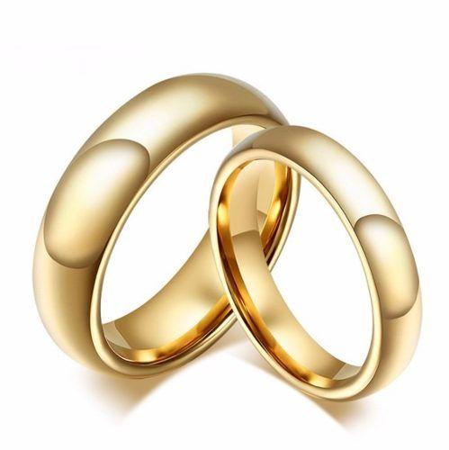 Par Aliança Anel Compromisso Casamento Noivado Banh Ouro 18k
