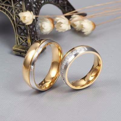 Par Aliança Banhada Ouro 18k Noivado Casamento Com Zirconia