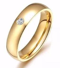 1 Aliança Anel Casamento Ou Noivado Zirconias