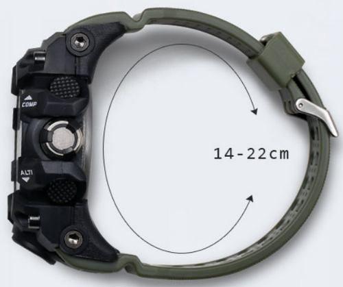 Relógio Masculino Verde Smael G-shock Militar Prova D'água 1545