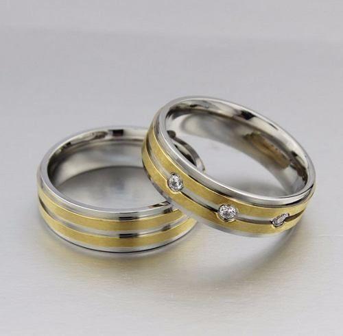Par Aliança 6mm Banhada Ouro 18k Zircônias Noivado Casamento