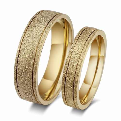 Par Aliança Anel Noivado Casamento Banho Ouro 18k