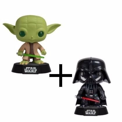 Yoda + Darth Vader Star Wars - Funko Pop (pronta Entrega)