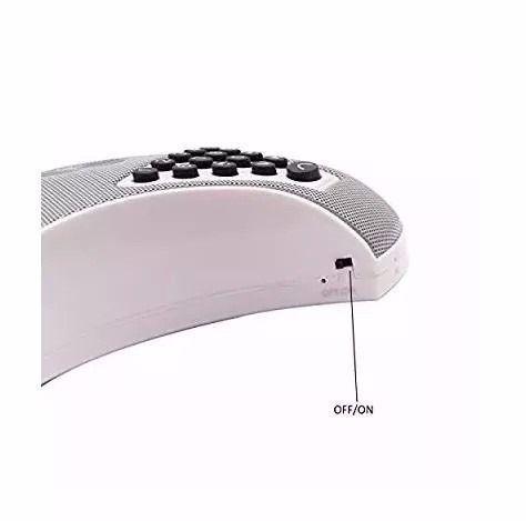 Caixa De Som Viva Voz Bluetooth Recarregável Mesa Escritório
