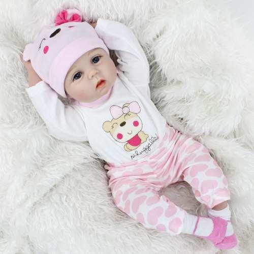 Boneca Bebe Reborn Linda Menina Princesa Pijama