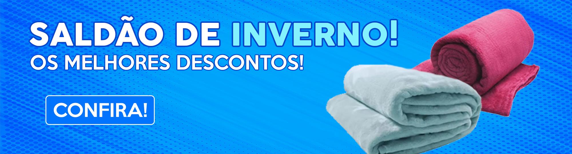 Saldão de Inverno! Mantas e cobertores para te aquecer.