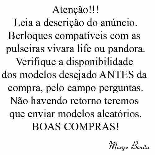 Charms Berloques Banho Prata Pandora Vivara Disney