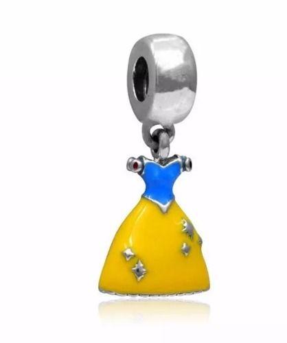Charm Berloque Pandora Banh. Prata Vestidos Princesas Disney