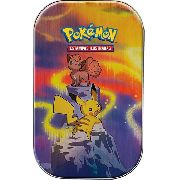Pokemon Mini Latas Poderes De Kanto Pikachu Dragonite Charizard Mew Cards