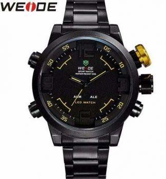 Relógio Masculino Weide Anadigi Casual Amarelo Wh-2309b