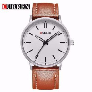 Relógio Curren Masculino Couro Quartz Modelo 8233
