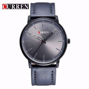 Relógio Curren Masculino Couro Quartz Modelo 8233p Cinza