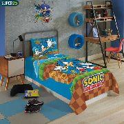 Jogo De Cama Sonic Com 2 Peças Lepper