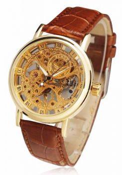 Relógio Sewor Esqueleto Automático De Luxo Barato