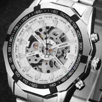 Relógio Masculino Winner Skeleton Automático Tm340