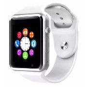 Relógio Smartwatch Celular A1 3g Chip Android Samsung Branco