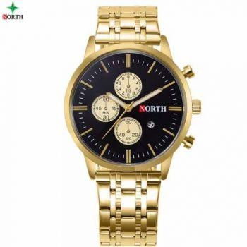 Relógio De Luxo North Nightlight Dourado 2017 Fundo Preto