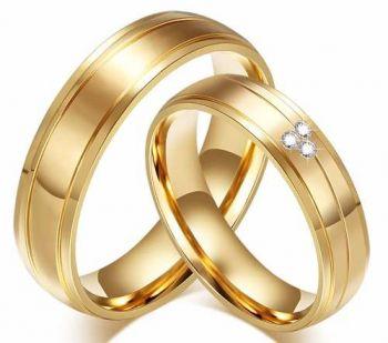 Par Alianças Noivado Casamento Compromisso Banho Ouro 18k