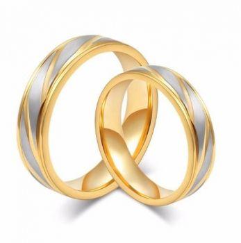 Par De Alianças Banhada Ouro 18k Casamento Ou Noivado