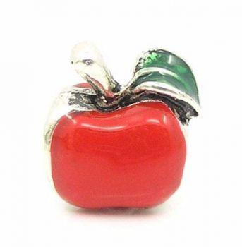Charm Berloque Pandora Vivara B. Prata Maçã Apple Vermelha