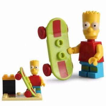 Bart Simpsons Lego Compatível Boneco