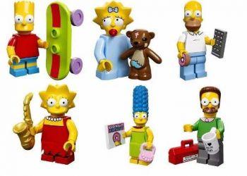 Lego Simpsons C/ 6 Miniaturas - Novo Pronta Entrega