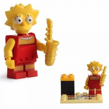 Lisa Simpsons Lego Compatível Boneco