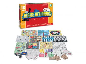 18 Jogos Reunidos - Dama Trilha Ludo Xadrez + 14 Jogos - Nig