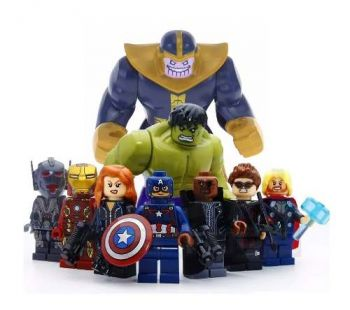 Kit Lego Vingadores Marvel Guerra Infinita + Thanos Jóias Do