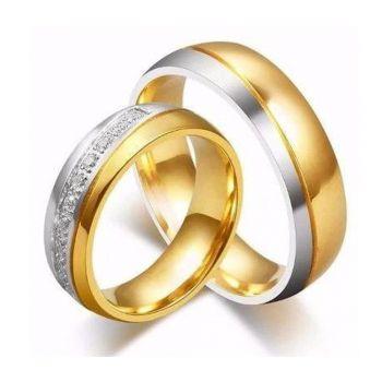 1 (uma) Unidade Aliança Banhadas Ouro - Não É O Par