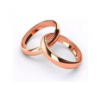 1 Unidade Aliança 4mm Banhada Ouro Rose Casamento Noivado