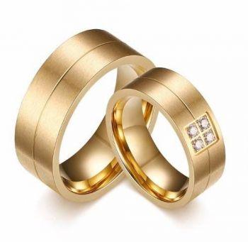 1 Unidade Aliança Banhada Ouro 18k Casamento Ou Noivado