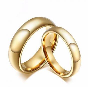 1 Unidade Alianças Banhada Ouro Compromisso Noivado Casamento