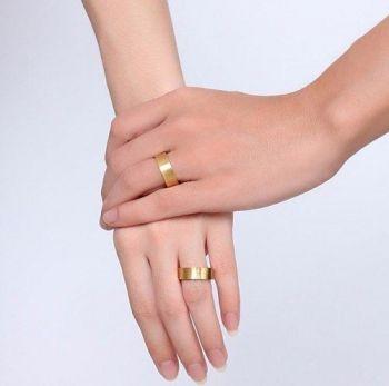 1 Uidade Alianças Banhadas Ouro Com 15 Micro Brilhantes Oferta!