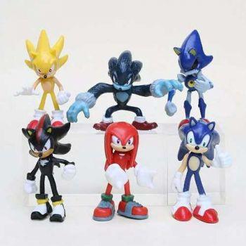 Action Figure Sonic Lançamento C/ 6 Bonecos Pronta Entrega