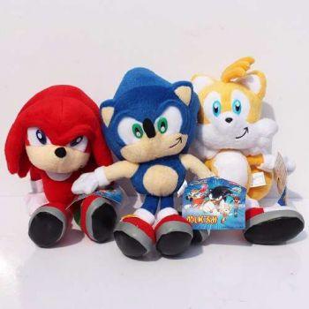 Coleção Sonic, Knuckles, Tails Kit 3 Pelúcias Pronta Entrega