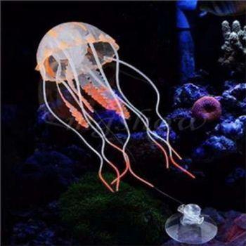 Decoração Aquário: Medusa Água Viva Enfeite Silicone