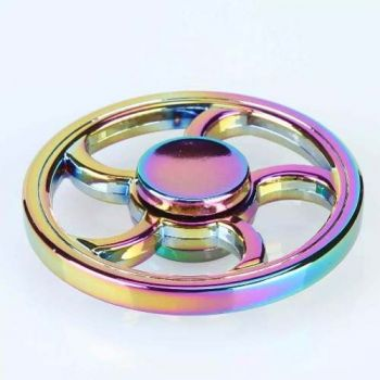 Hand Spinner Metal Redondo Fidget Brinquedo De Giro Colorido