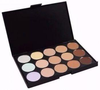 Paleta De Base Corretivos 15 Cores Maquiagem Profissional