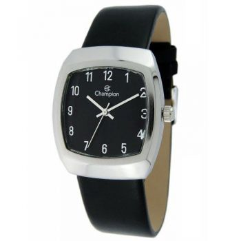 Relógio Feminino Champion Quadrado Pulseira Couro Ch28951t