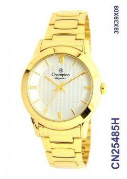 Lindo Relógio Feminino Dourado Luxo Casual Champion Cn25485h