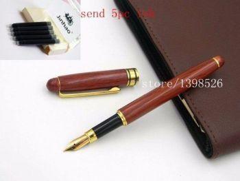 Caneta Tinteiro Luxo Jinhao X450 Vermelha Wood Madeira