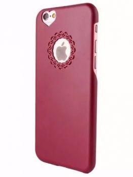Capinha Capa Case Apple Iphone 6 Acrílico Rosa Coração