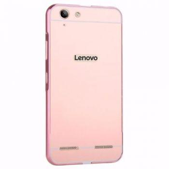 Capinha Case Bumper Metal Espelhada Luxo Lenovo Vibe K5 Rosa