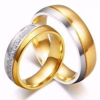 1 Unidade Aliança De Tungstenio Banhada A Ouro Com Zircônia