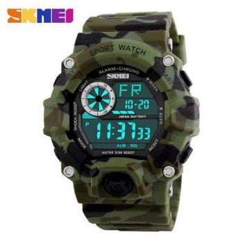 Relógio Original Skmei Camuflado Prova D'água Masculino 1019